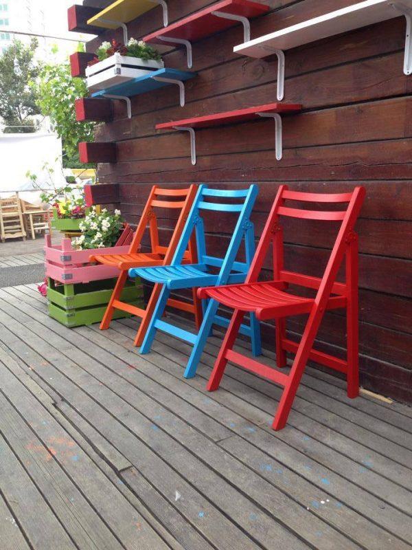 Renkli Sandalye Katlanabilir sk1