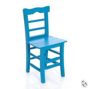 Tahta Sandalye Mavi ts1