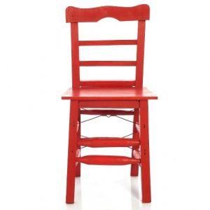 Tahta Sandalye Kırmızı ts2