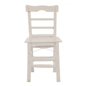 Tahta Sandalye Beyaz ts6