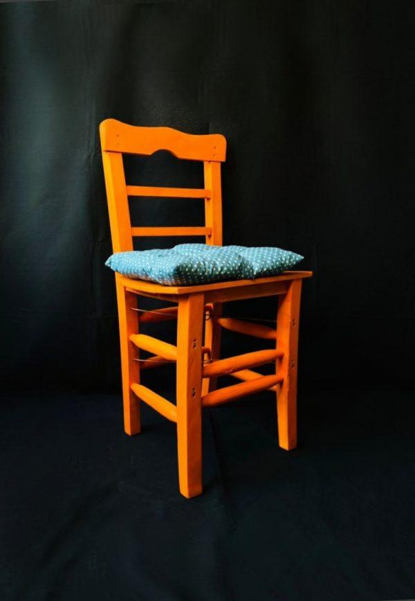Bahçe sandalye turuncu rengi