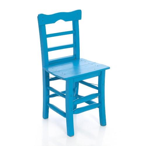 Renkli Tahta Sandalyeler