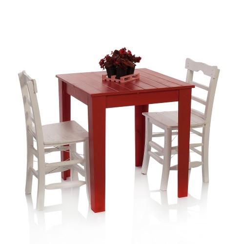 Bahçe için renkli ahşap mobilyası