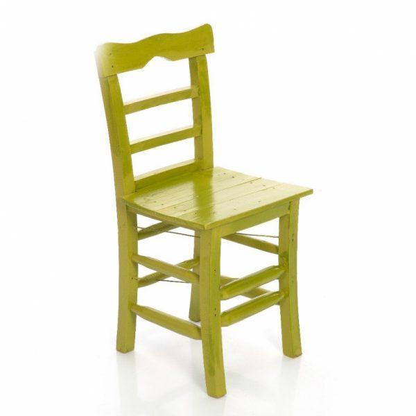 Tahta Sandalye Yeşil ts7