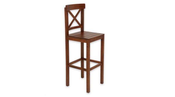 Kahverengi sandalye bar için