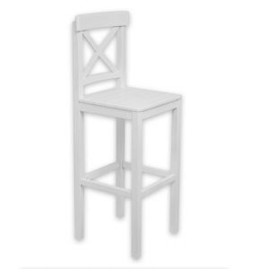 Beyaz yüksek sandalye mutfak için