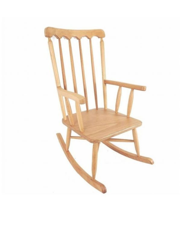 Ahşaptan sallanan koltuk salon için