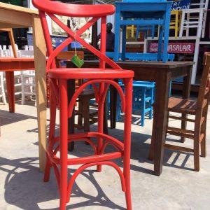 Kırmızı bar sandalye